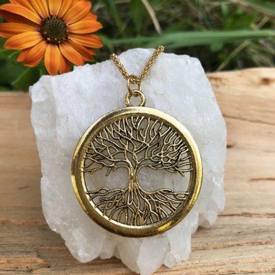 Medallón Árbol de la vida dorado